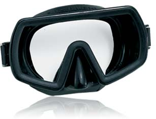 Aqua Lung Maui Mask | 503350 | With a large single lens, low volume, and Black silicone skirt, the AquaLung Maui mask is popular with armed services worldwide. | US Divers Surface, Tactical, Water Rescue, and SAR Swimmer Equipment | Aqua Lung Military Masks | Authorized Online Dealer