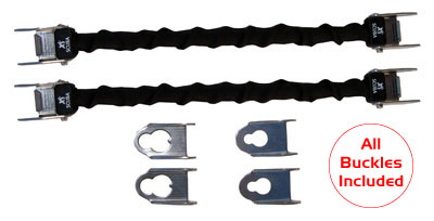 XS Scuba Universal Spring Fin Straps | One kit attaches to almost any scuba fin